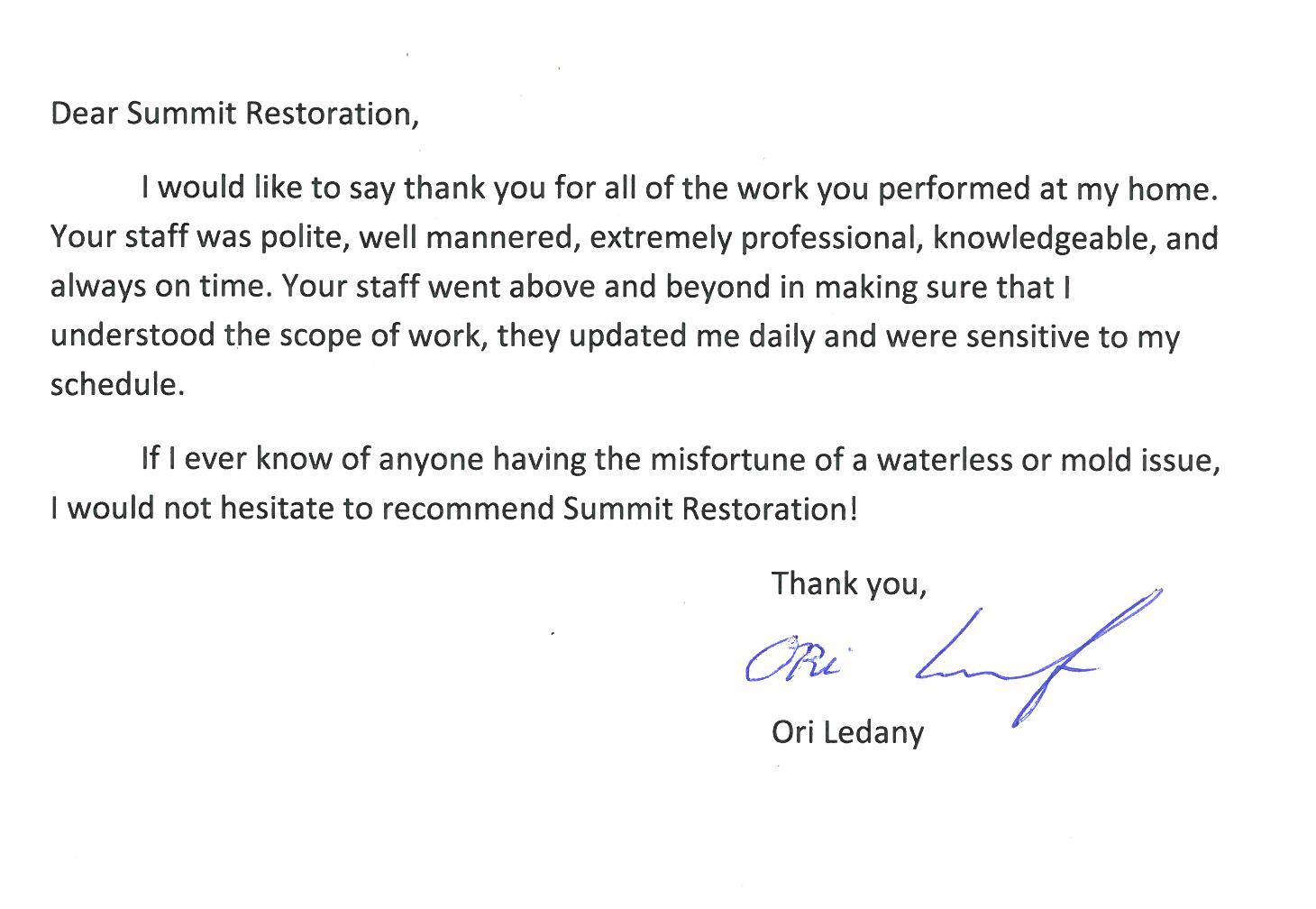 Testimonial from Ori Ledany