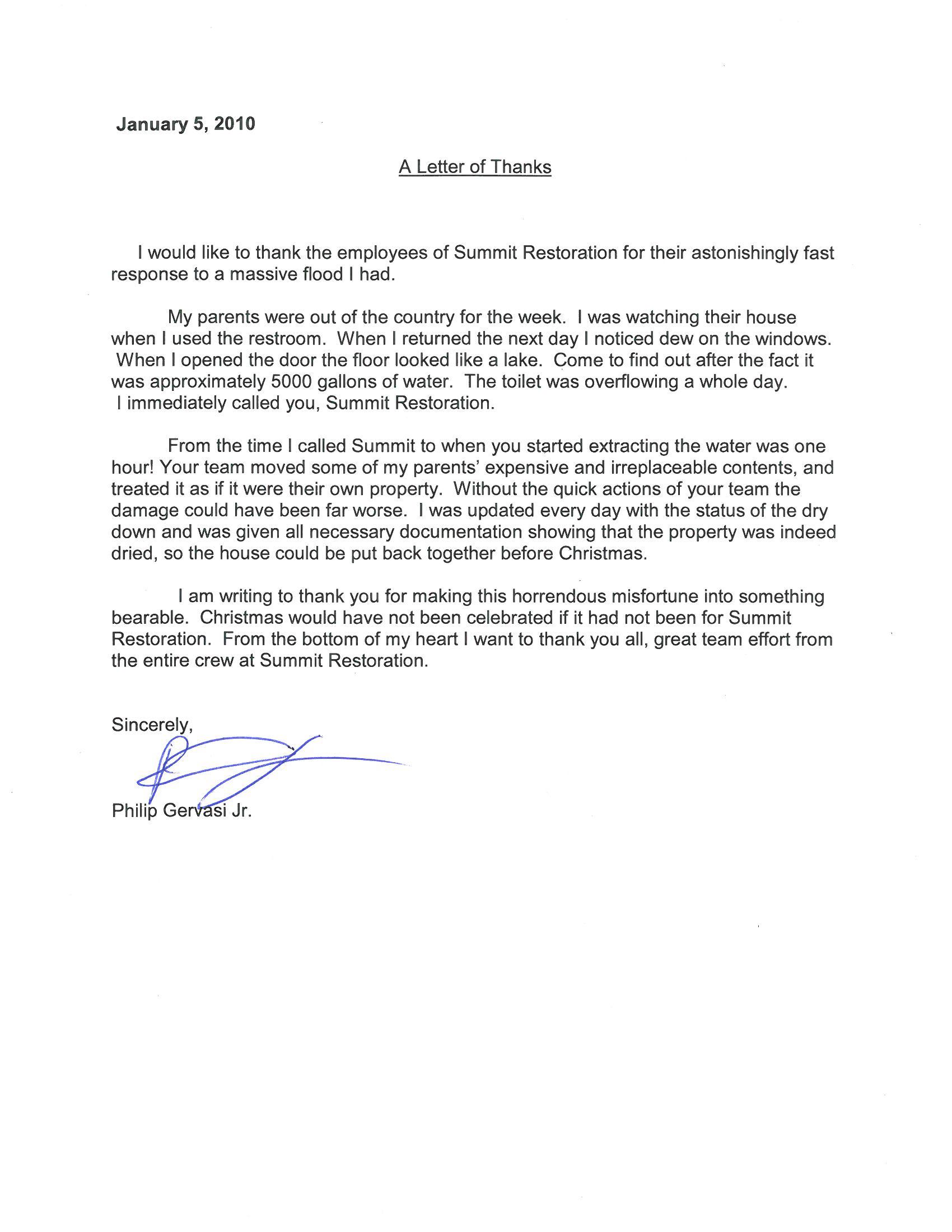 Testimonial from Philip Gervasi
