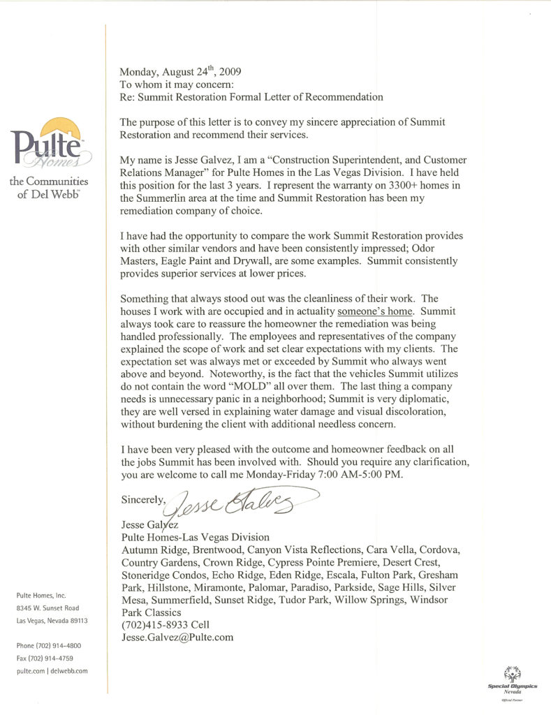 Testimonial from Jessie Galvez – Pulte Homes