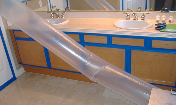 Air Tube in Bathroom
